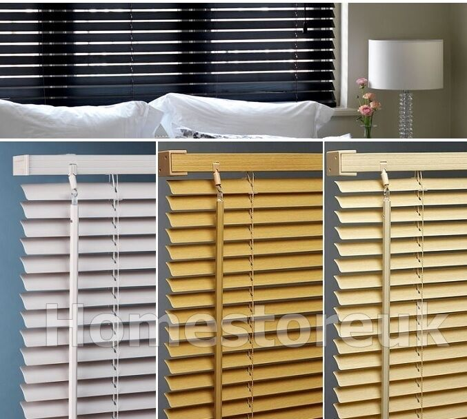 Ready Made Vinyl Pvc Venetian Blind Plain Wood Effect