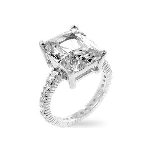 1 Ct Cubic Zirconia Engagement Ring