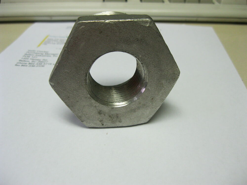 Bushing hex reducing stainless steel quot lb ebay