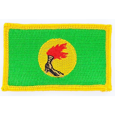 img-PATCH ECUSSON BRODE DRAPEAU ZAIRE INSIGNE THERMOCOLLANT NEUF FLAG PATCHE