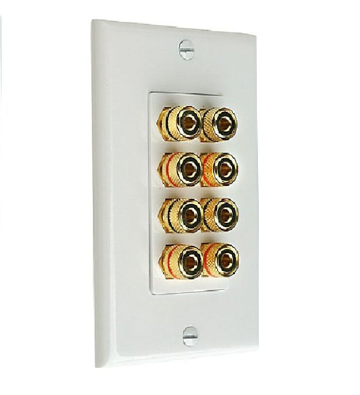 Audio 8-post Wall Outlets for Speaker Wires White | eBay