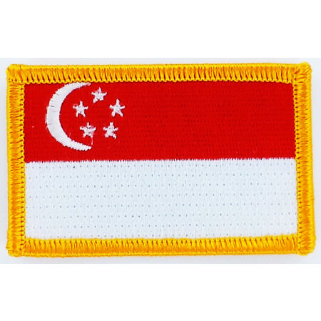img-PATCH ECUSSON BRODE DRAPEAU SINGAPOUR INSIGNE THERMOCOLLANT NEUF FLAG PATCHE