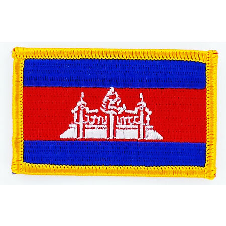 img-PATCH ECUSSON BRODE DRAPEAU CAMBODGE INSIGNE THERMOCOLLANT NEUF FLAG PATCHE