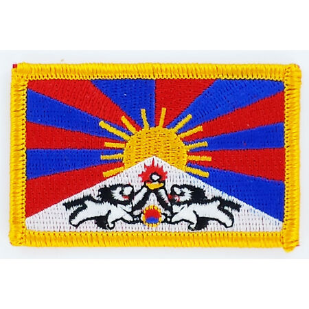 img-PATCH ECUSSON BRODE DRAPEAU TIBET INSIGNE THERMOCOLLANT NEUF FLAG PATCHE