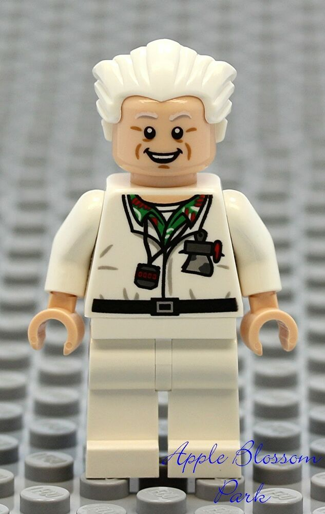 New Lego Back To Future Doc Brown Minifig Dr Emmet
