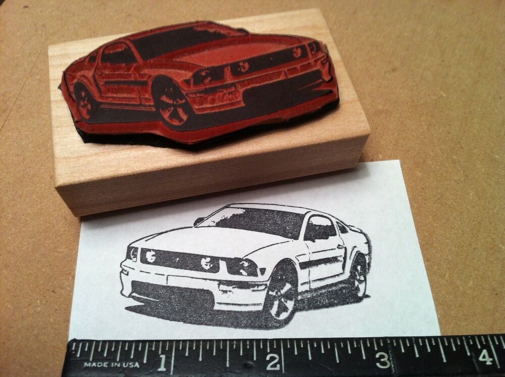 2005 09 New Ford Mustang Fastback Gt Car Rubber Stamp Ebay