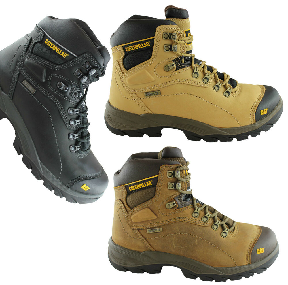 CATERPILLAR CAT DIAGNOSTIC MENS STEEL TOE WORK/SAFETY BOOTS/SHOES/WATERPROOF! | EBay