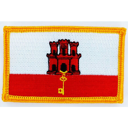 img-PATCH ECUSSON BRODE DRAPEAU GIBRALTAR INSIGNE THERMOCOLLANT NEUF FLAG PATCHE