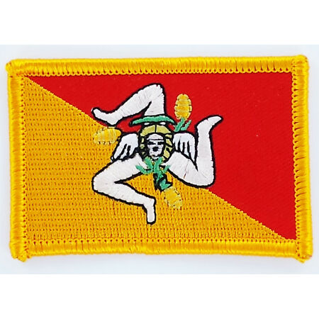 img-PATCH ECUSSON BRODE DRAPEAU SICILE ITALIE INSIGNE THERMOCOLLANT NEUF FLAG