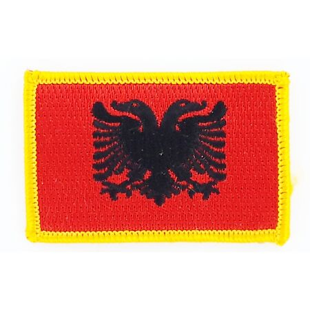 img-PATCH ECUSSON BRODE DRAPEAU ALBANIE INSIGNE THERMOCOLLANT NEUF FLAG PATCHE