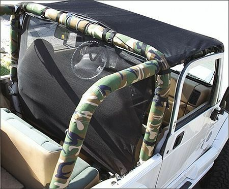 1992 1995 Jeep Wrangler Sport Bar Cover Roll Cage Pad Kit