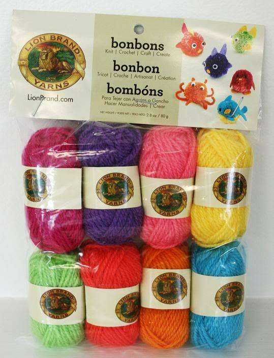 Lion Brand Miniature Bonbons Yarn 8 Pack for Knit, Crochet + Crafts ...