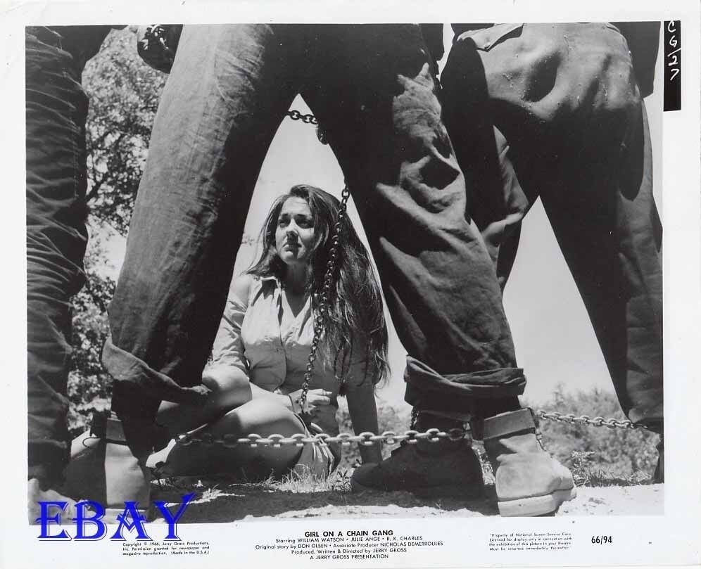 Busty Leggy Babe In Chains Vintage Photo Girl On A Chain -7887