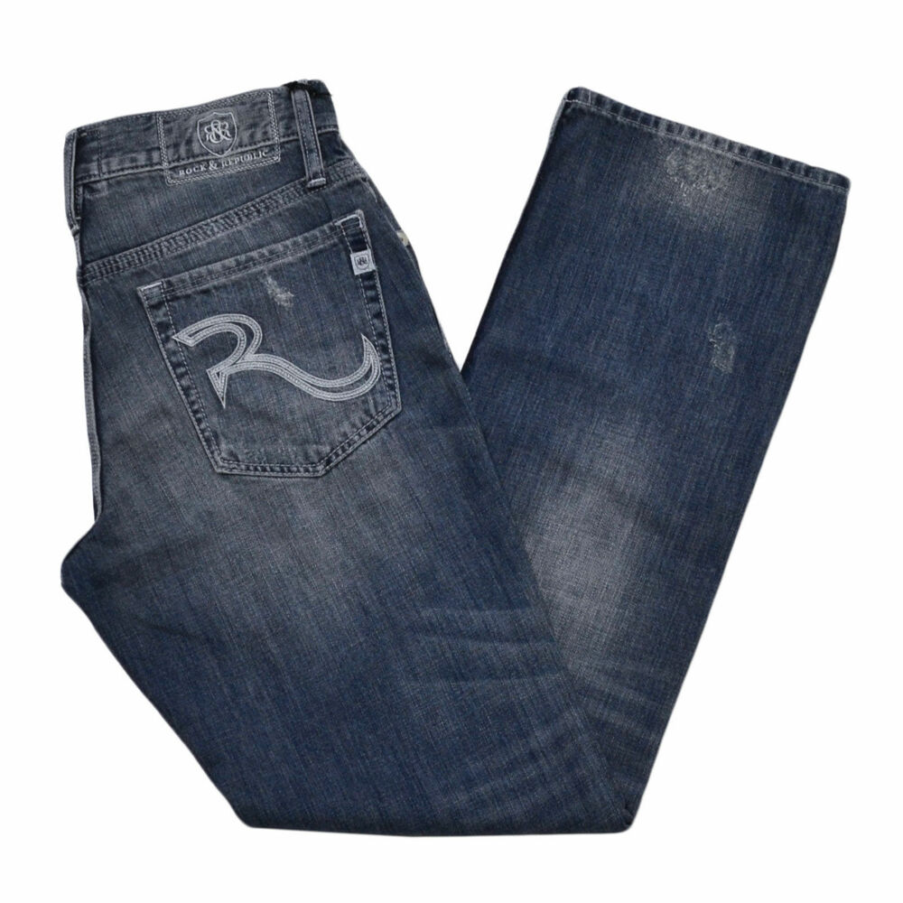 rock republic bootcut jeans henlee stonewashed blue new. Black Bedroom Furniture Sets. Home Design Ideas
