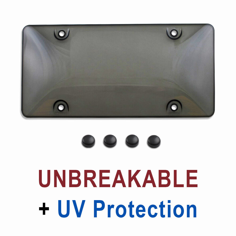 Tinted Plastic License Plate Shield Cover Tag Protector