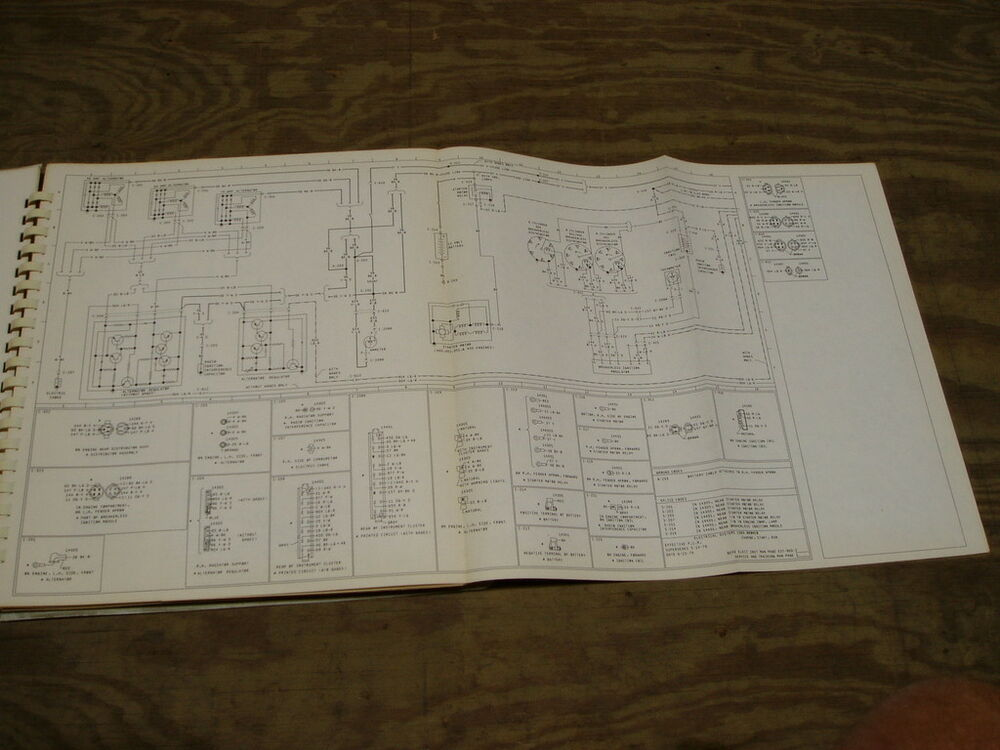 1980 Ford Courier Pickup Truck Wiring Diagram Schematic Sheet Service Manual