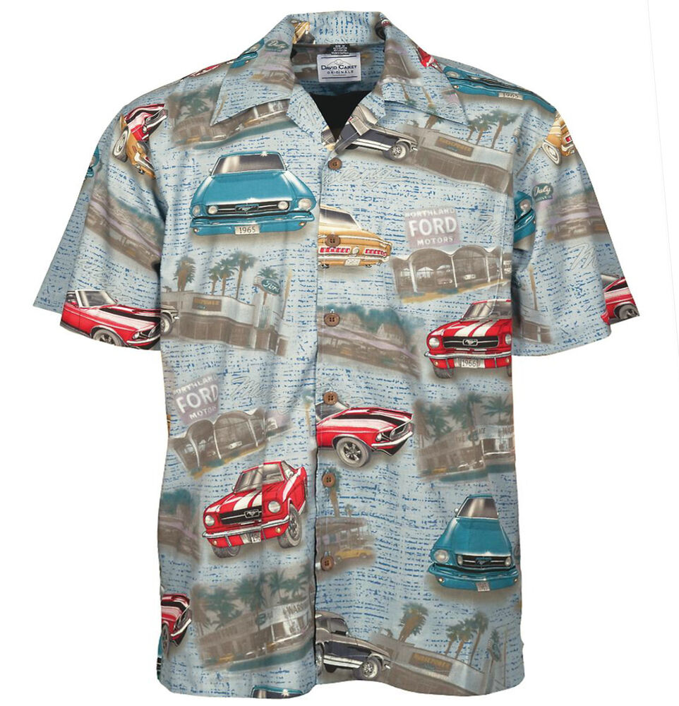 Ford Mustang Classic 60 S Cars Camp Hawaiian Shirt David