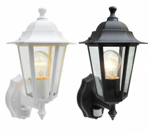 Outdoor Pir Detector Security Lantern Wall Light Garden