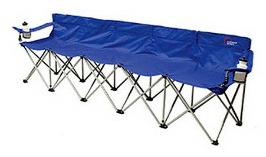 New 5 Person Folding Team Bench Chair Outdoor Sideline Seating Camping Tailgate Ebay