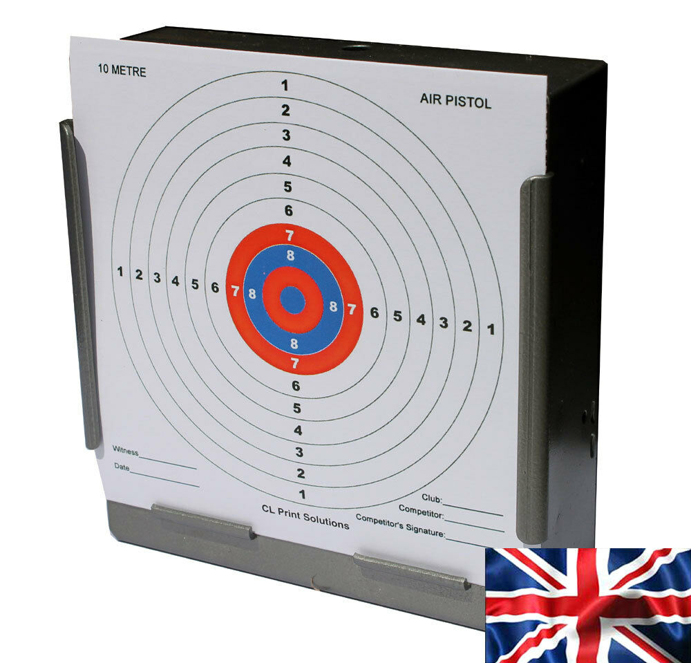 Colorado Shooting Competitions: 100x AIR RIFLE OR PISTOL14CM CLP PAPER 10M 33FT TARGET