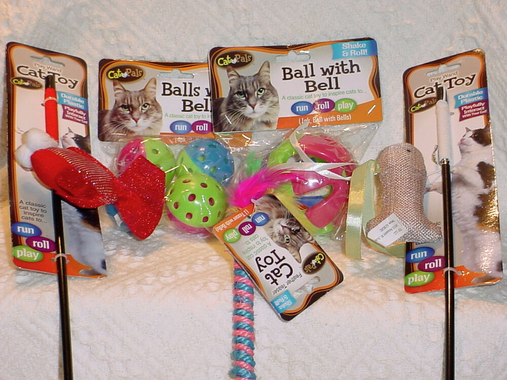 Cat and pals pet toys shake and roll balls feather for Retractable cat toy