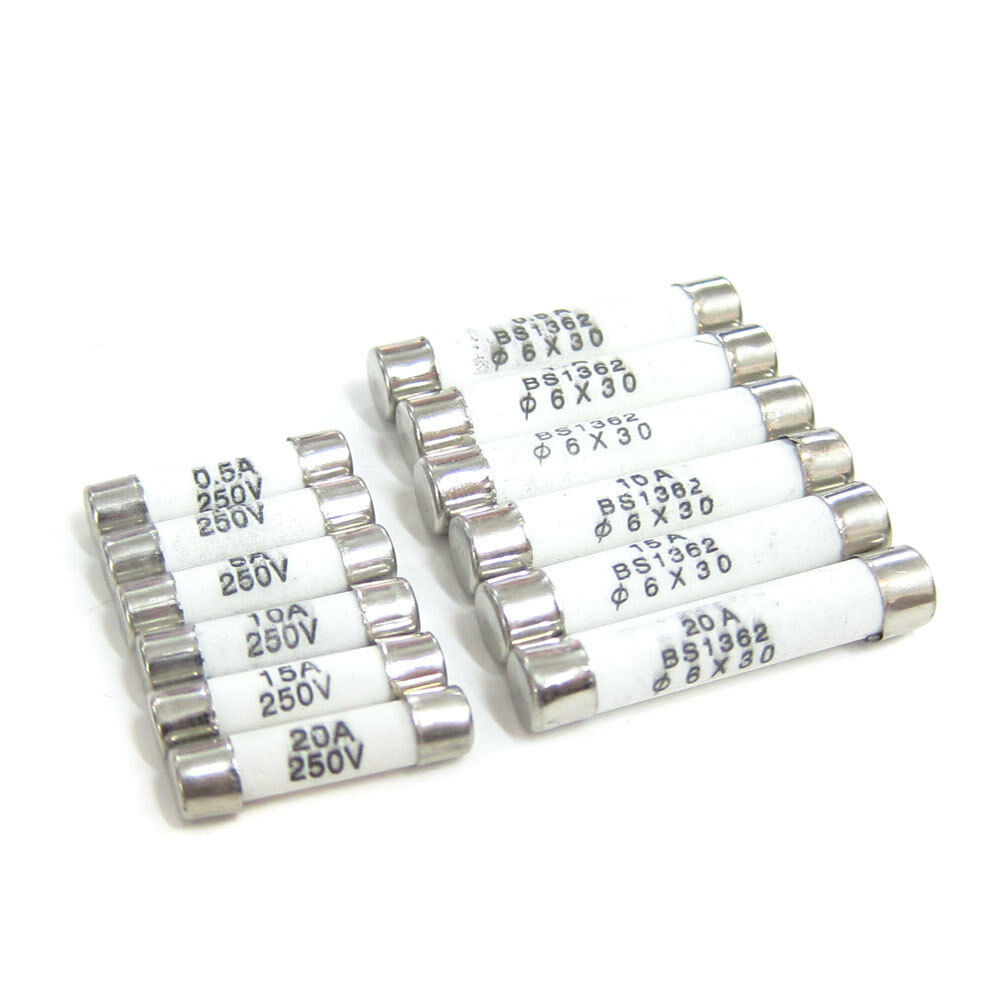 Ceramic Fuses Fast Blow 5x20mm 6x30mm 0 5a 1a 5a 10a 15a