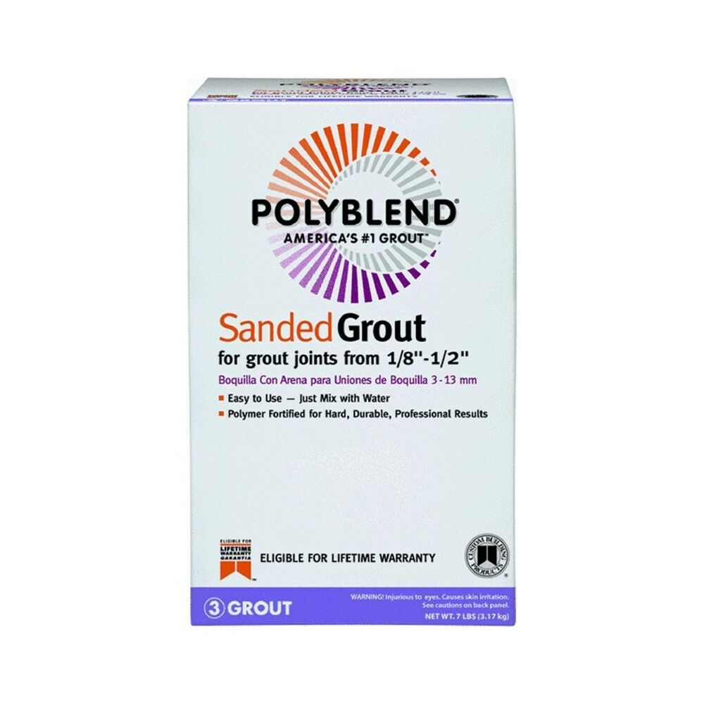 new custom building products 22 polyblend sanded tile grout 7 pound ebay. Black Bedroom Furniture Sets. Home Design Ideas