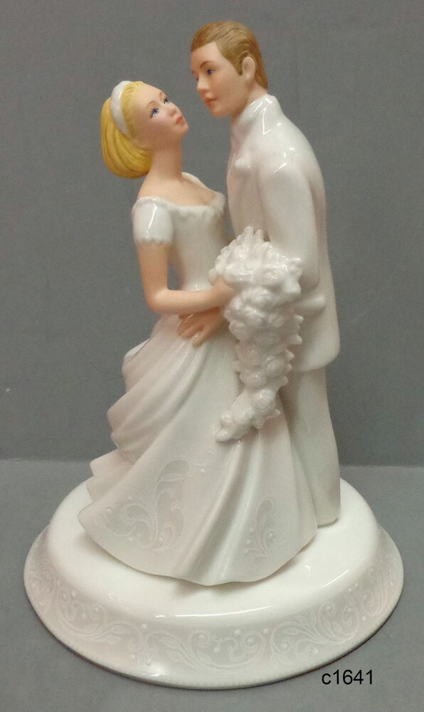 wedding cake bride and groom figurines lenox opal innocence and groom cake topper figurine 22087