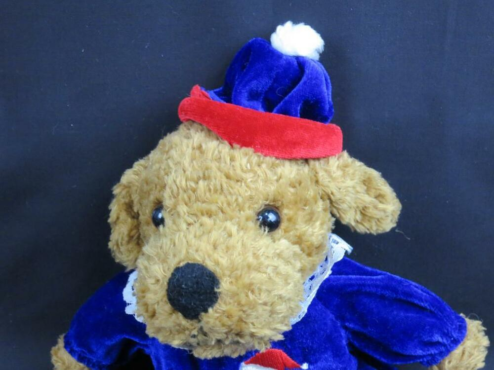 royal blue my first christmas baby puppy dog snowman outfit plush stuffed animal ebay. Black Bedroom Furniture Sets. Home Design Ideas