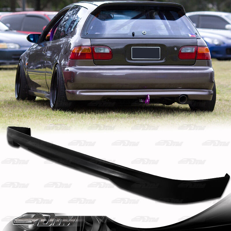 Civic Hatch: Type R Style Polyurethane Rear Bumper Lip Wing For 92-95
