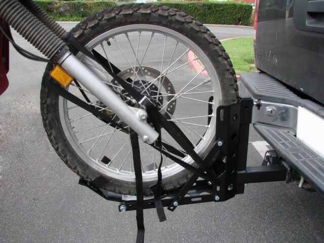 "Motorcycle 2"" Receiver Trailer Hitch Carrier Pull Behind Hauler Tow Towing Rack 