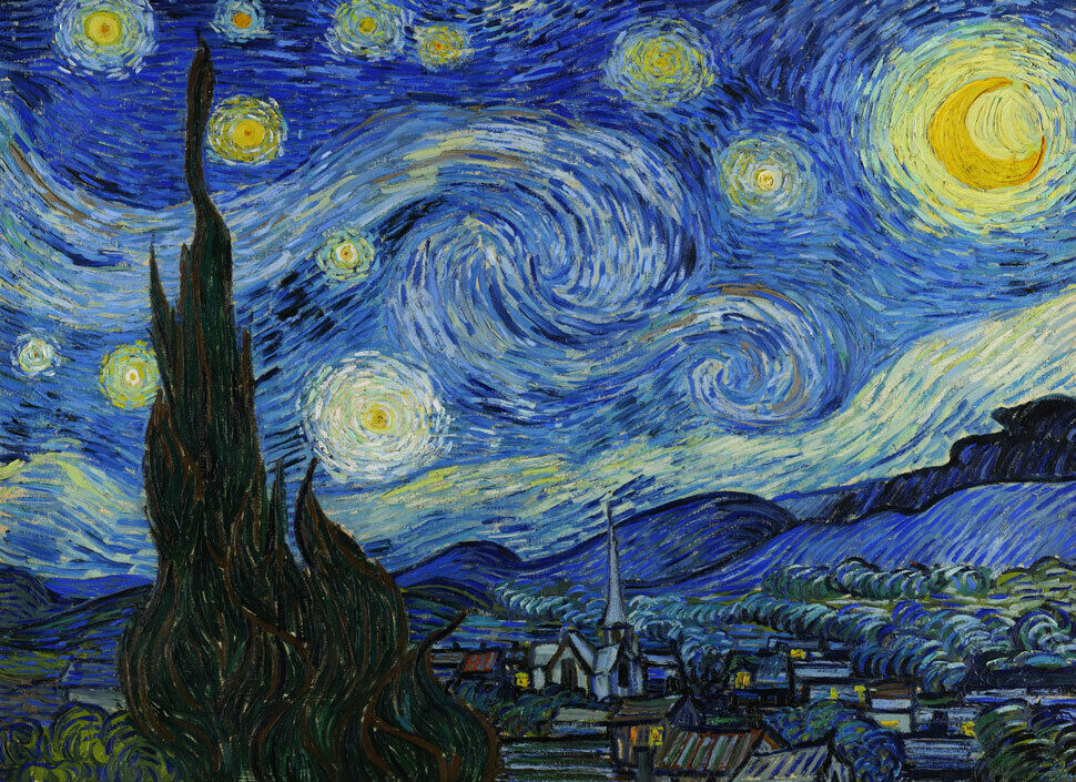 It's just an image of Ambitious Starry Night Printable