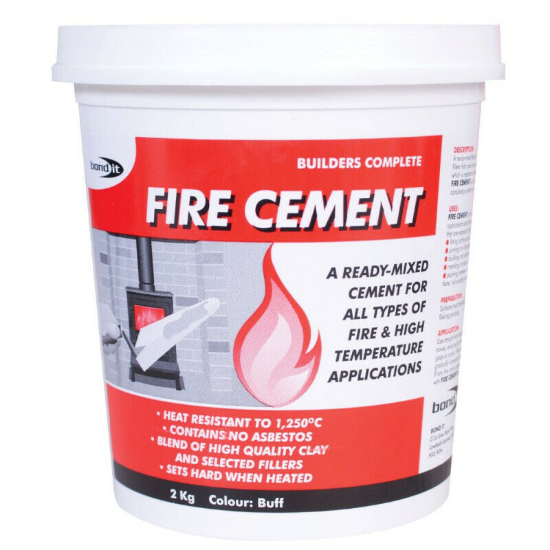 Fire Resistant Cement : High temperature heat resistant fire cement ready mixed