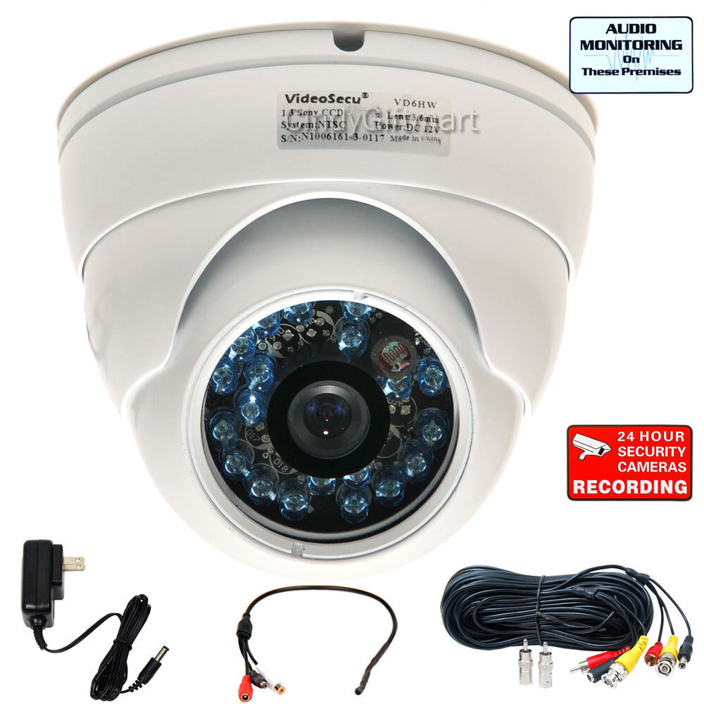 Wide Angle Security Camera Outdoor Day Night With Sony Ccd