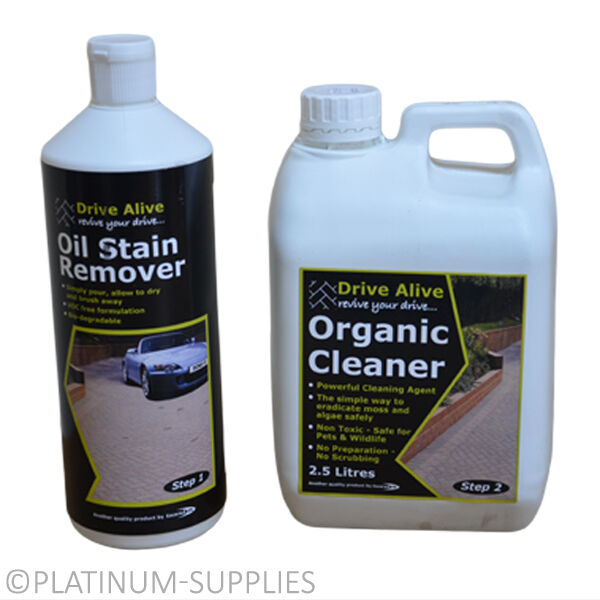 Drive alive organic cleaner oil grease stain remover for Cleaning oil off cement