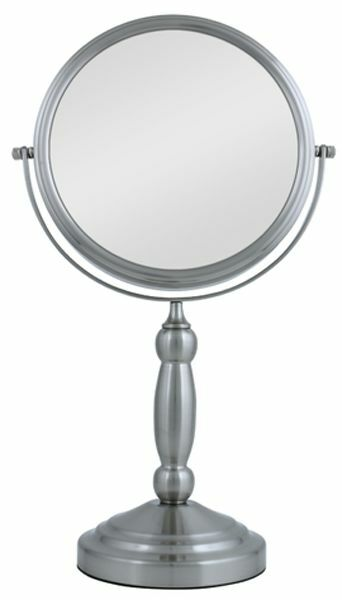 Zadro 10x 1x Magnification Satin Nickel Swivel Vanity