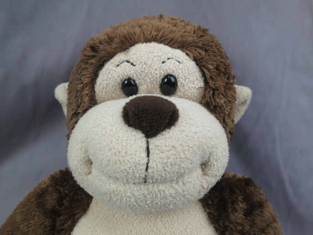 big brown monkey sounds build a bear adorable huggable plush stuffed animal ebay. Black Bedroom Furniture Sets. Home Design Ideas