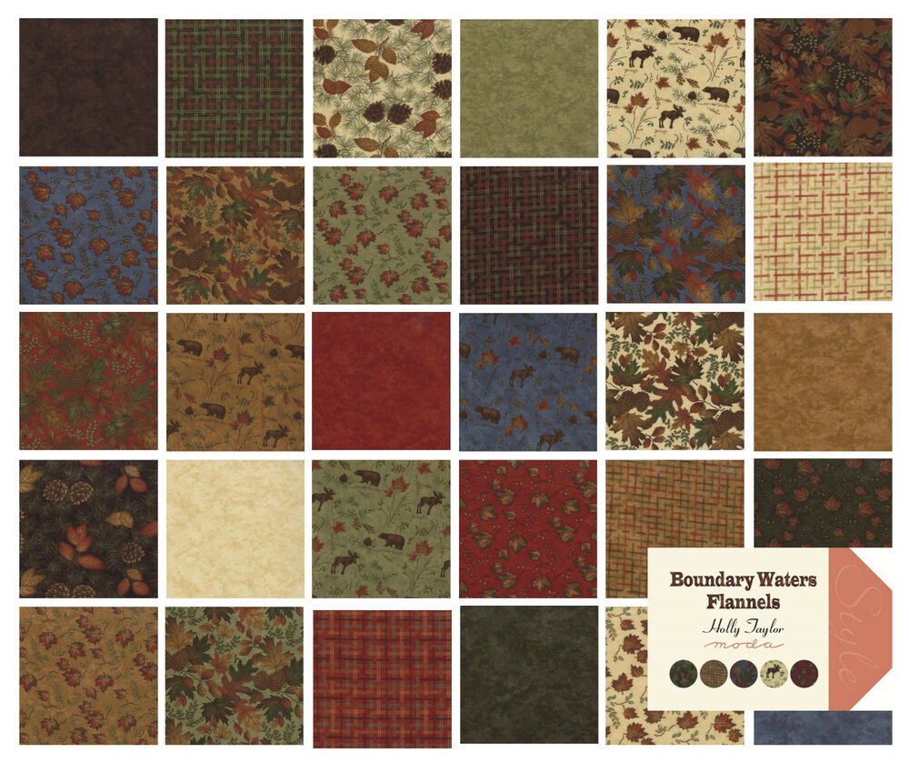 Boundary Water Flannel Holly Taylor Moda Fabric Quilt
