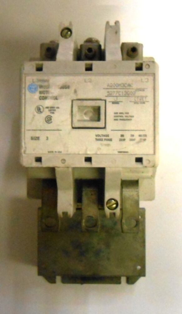 Westinghouse Motor Control A200m3cac 5277c13g02 Model J Voltage 3 Phase Ebay