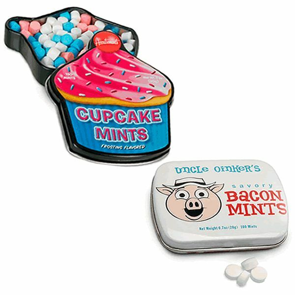 NOVELTY BREATH MINT SET 2PC - BACON & CUPCAKE FLAVORED ...