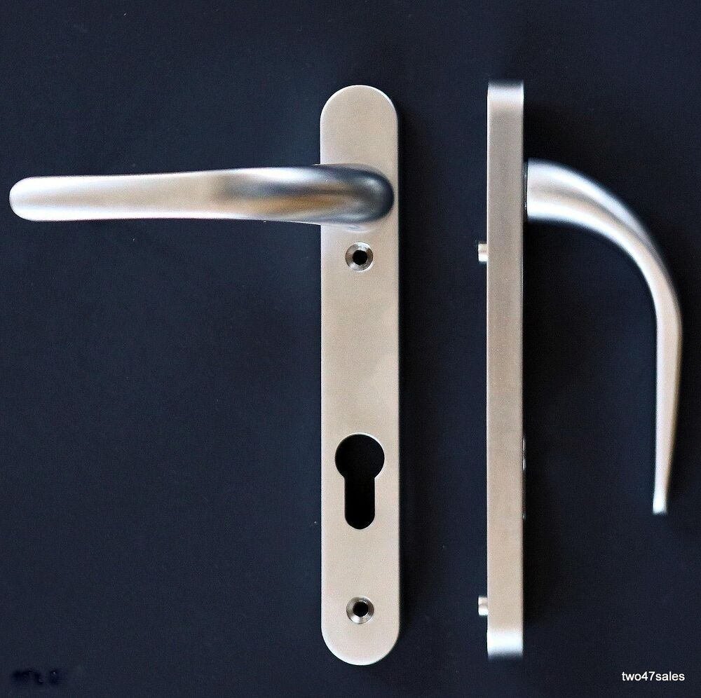 Easy fit satin silver chrome quality door handle brushed for Quality doors