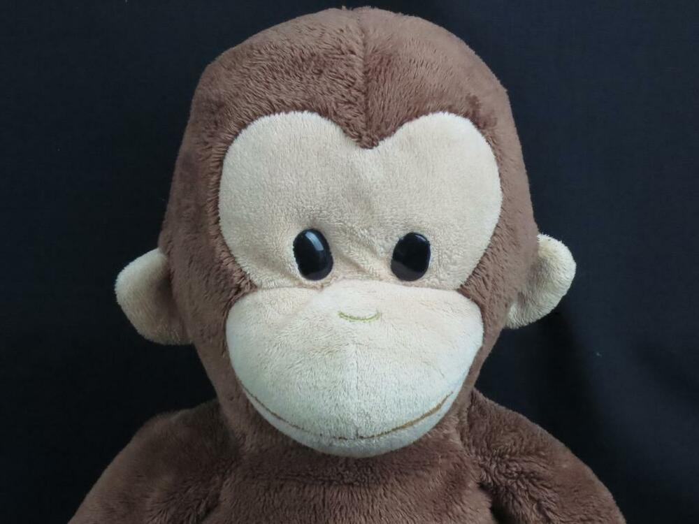 plush curious george applause stuffed animal cartoon brown big monkey toy 16 ebay. Black Bedroom Furniture Sets. Home Design Ideas