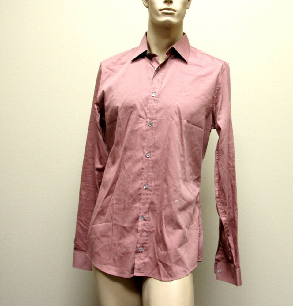 510 New Authentic Gucci Mens Cotton Silk Dress Shirt 42