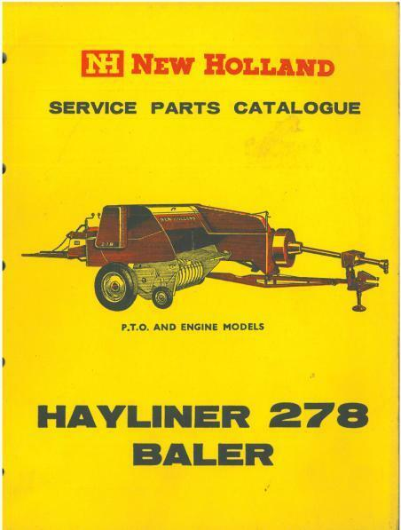 New Holland baler 851owners Manual