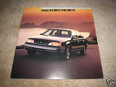 1986 ford taurus gl lx mt5 sedan wagon sales brochure. Black Bedroom Furniture Sets. Home Design Ideas