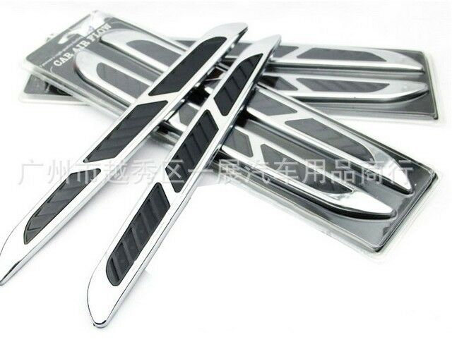 Chrome Silver Exterior Decorative Hood Air Intake Vent Air Flow Grille For Benz Ebay