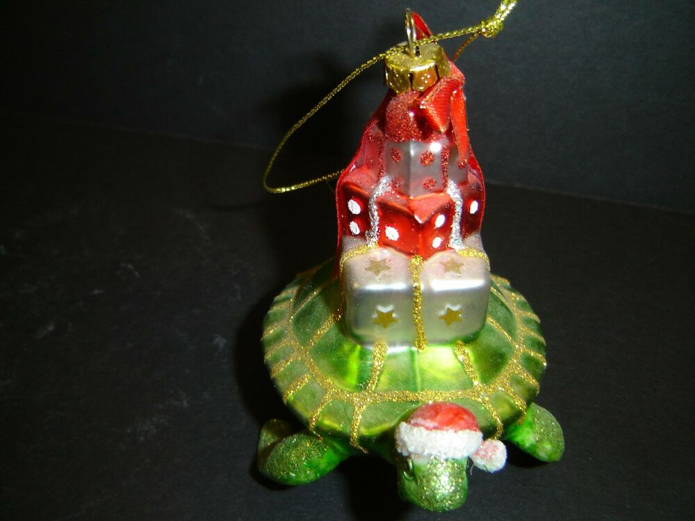 Brand New Sea Turtle Carry Gifts Christmas Ornament By