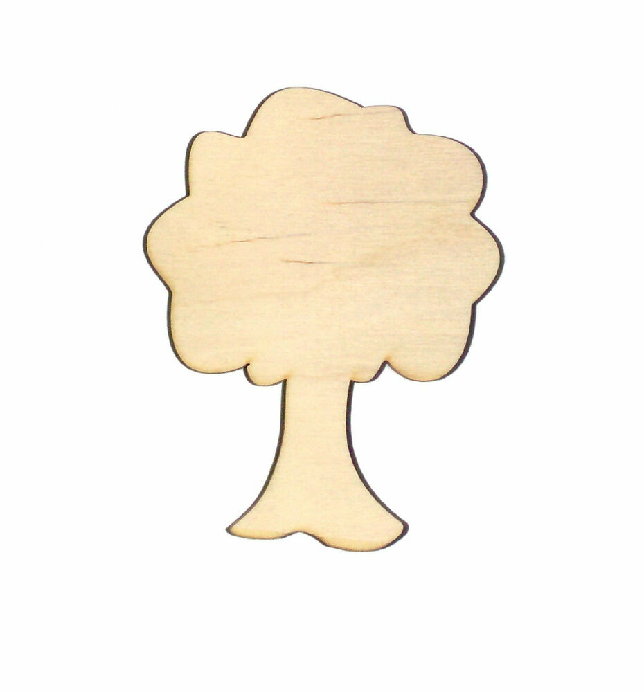 Apple Tree Unfinished Wood Shape Cut Out AT5218 Laser