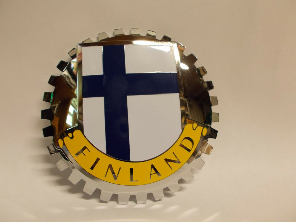 Finland Car Club Grille Badge Ebay