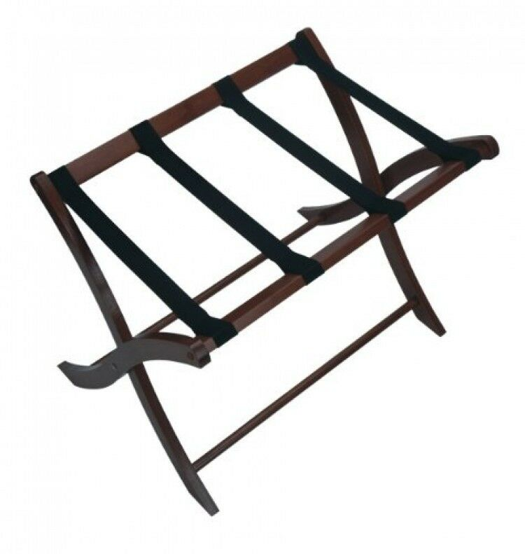 Winsome Folding Wood Luggage Rack Classic Hotel Suitcase